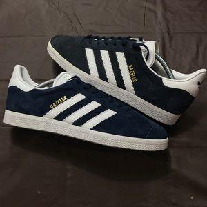Adidas Gazelle Navy Suede Sneakers 9.5 Men